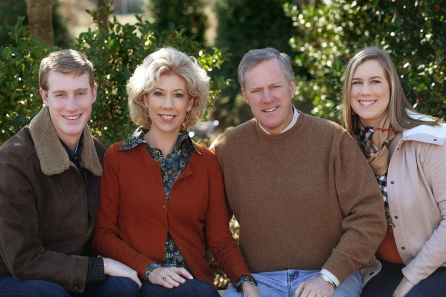 Debbie Meadows with Husband Mark Meadows and Children