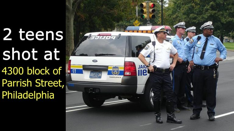 2 teens shot on thigh at 4300 block of Parrish Street, Philadelphia
